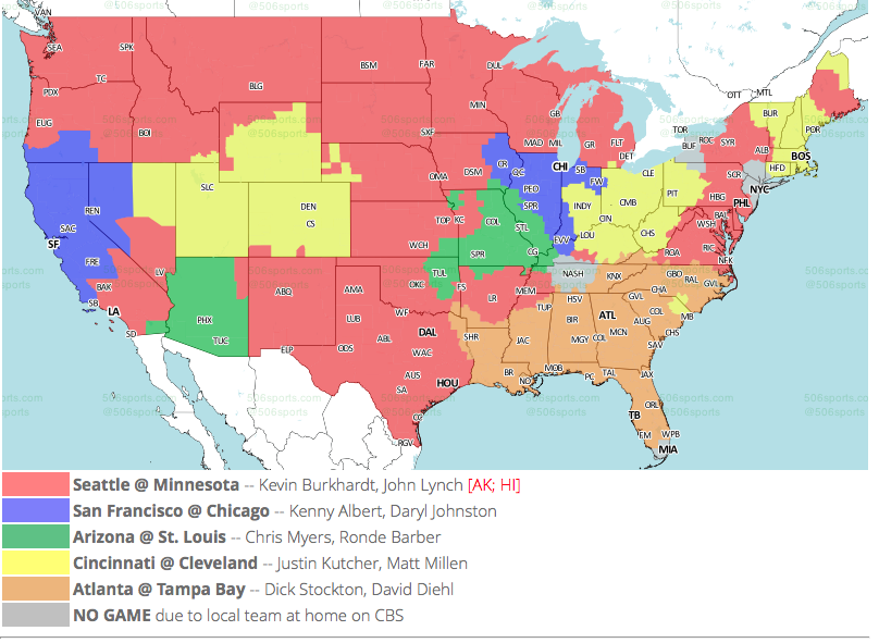 Nfl Tv Maps For Week 13